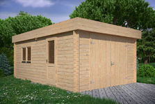 Houten garage Noord-Holland 4x6m 44mm